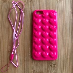 Accessories - NEW Iphone 6/6s 3D Pink Hearts Case